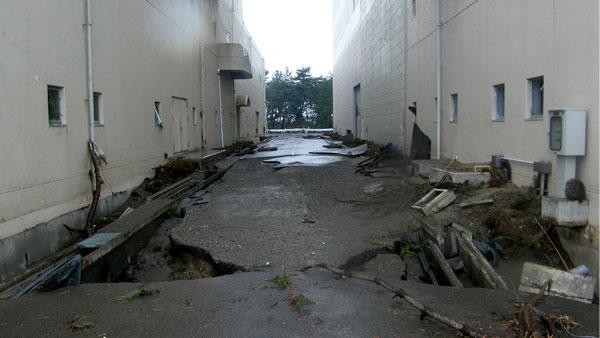 仙台:震災直後の南蒲生浄化センター